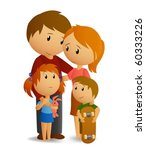 Happy loving family - stock vector