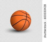 vector realistic basketball...   Shutterstock .eps vector #603333428