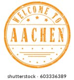 """rubber stamp """"welcome to aachen""""... 