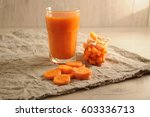 the carrots snacks and mint ... | Shutterstock . vector #603336713