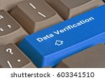 keyboard with key for data... | Shutterstock . vector #603341510