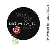anzac  australia new zealand... | Shutterstock .eps vector #603342176
