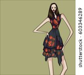 fashion  vector illustration ... | Shutterstock .eps vector #603346289
