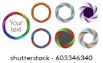 set the colored lens aperture ... | Shutterstock .eps vector #603346340