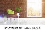 modern bright interior . 3d... | Shutterstock . vector #603348716