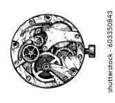 ink hand drawn illustration of... | Shutterstock . vector #603350843