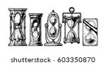 set of different hourglass in... | Shutterstock . vector #603350870