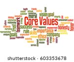 core values  word cloud concept ... | Shutterstock . vector #603353678