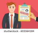 boss hand hold rejected paper...   Shutterstock .eps vector #603364184