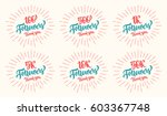 thank you followers lettering... | Shutterstock .eps vector #603367748