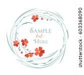 vector illustrations floral...   Shutterstock .eps vector #603368090