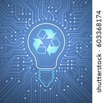 renewable electricity.... | Shutterstock .eps vector #603368174