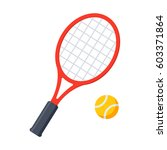 tennis  vector illustration in... | Shutterstock .eps vector #603371864