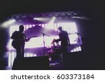 music band   group silhouette... | Shutterstock . vector #603373184