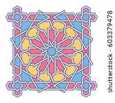 islamic pattern. vector... | Shutterstock .eps vector #603379478