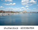 sail boats in charles river at... | Shutterstock . vector #603386984