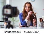 beauty fashion blogger... | Shutterstock . vector #603389564