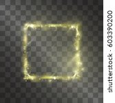 light effect of square golden... | Shutterstock .eps vector #603390200