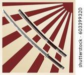 samurai swords against the... | Shutterstock .eps vector #603399320