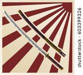 samurai swords against the... | Shutterstock .eps vector #603399326