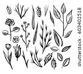 collection of hand drawn... | Shutterstock .eps vector #603402518