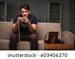 desperate man thinking of... | Shutterstock . vector #603406370
