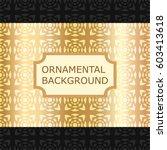 luxury ornamental vintage... | Shutterstock .eps vector #603413618