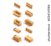 vector isometric box | Shutterstock .eps vector #603414584