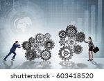 teamwork concept with... | Shutterstock . vector #603418520