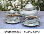 White Elegant Tea Set Of Teapo...
