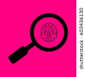 brain icon vector. search icon... | Shutterstock .eps vector #603436130