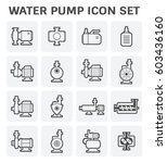 vector icon of electric water... | Shutterstock .eps vector #603436160