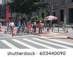 sao paulo  brazil   october 23  ... | Shutterstock . vector #603440090
