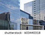 skyscrapers with glass facade.... | Shutterstock . vector #603440318