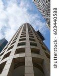 office buildings in avenue... | Shutterstock . vector #603440588