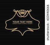vector outline text template.   Shutterstock .eps vector #603440666