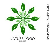 isolated nature logo on a white ... | Shutterstock .eps vector #603441680