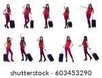 woman preparing for summer...   Shutterstock . vector #603453290