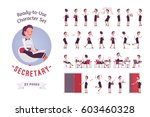 ready to use character set.... | Shutterstock .eps vector #603460328