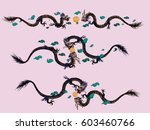 vector illustration traditional ... | Shutterstock .eps vector #603460766