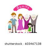 illustration of a big happy... | Shutterstock .eps vector #603467138