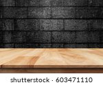 wooden old table isolated on... | Shutterstock . vector #603471110