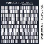 silver gradient pattern... | Shutterstock .eps vector #603473738