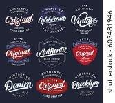 big set of california  vintage  ... | Shutterstock .eps vector #603481946