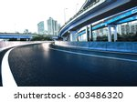 empty road floor with city... | Shutterstock . vector #603486320