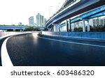 empty road floor with city... | Shutterstock . vector #603486320