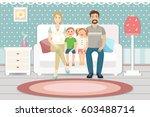 happy family with children... | Shutterstock .eps vector #603488714