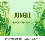 jungle background. jungle trees ... | Shutterstock .eps vector #603488744