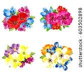 flower set | Shutterstock .eps vector #603502898