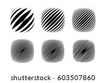 abstract halftone icons set... | Shutterstock .eps vector #603507860